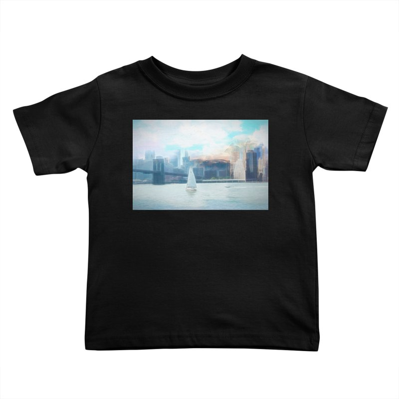 Skyline Kids Toddler T-Shirt by Jasmina Seidl's Artist Shop