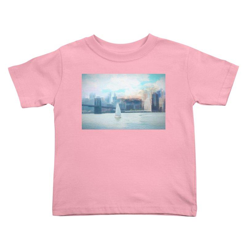 Skyline Kids Toddler T-Shirt by Jasmina Seidl's Artist Shop