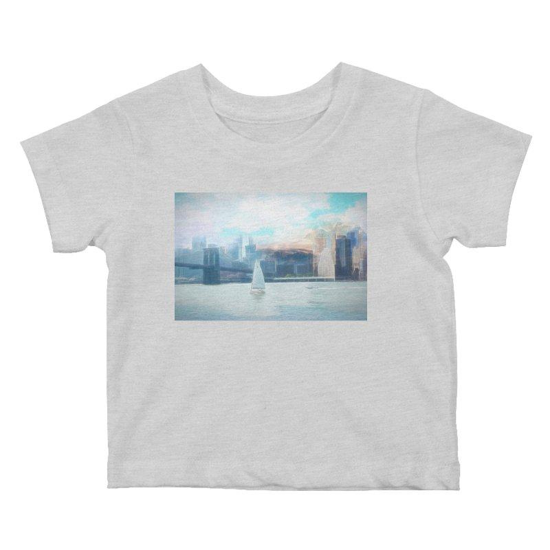 Skyline Kids Baby T-Shirt by Jasmina Seidl's Artist Shop