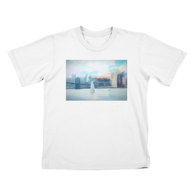 Skyline Kids T-Shirt by Jasmina Seidl's Artist Shop