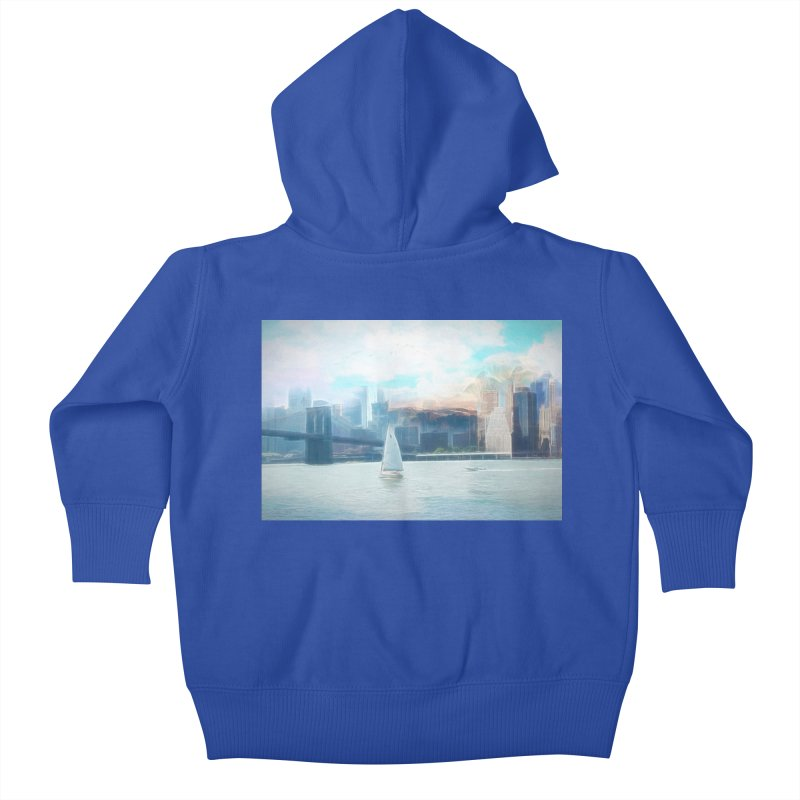 Skyline Kids Baby Zip-Up Hoody by Jasmina Seidl's Artist Shop