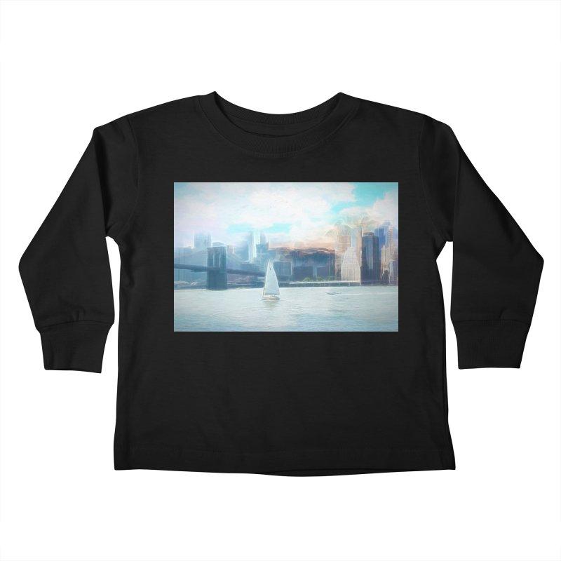 Skyline Kids Toddler Longsleeve T-Shirt by Jasmina Seidl's Artist Shop