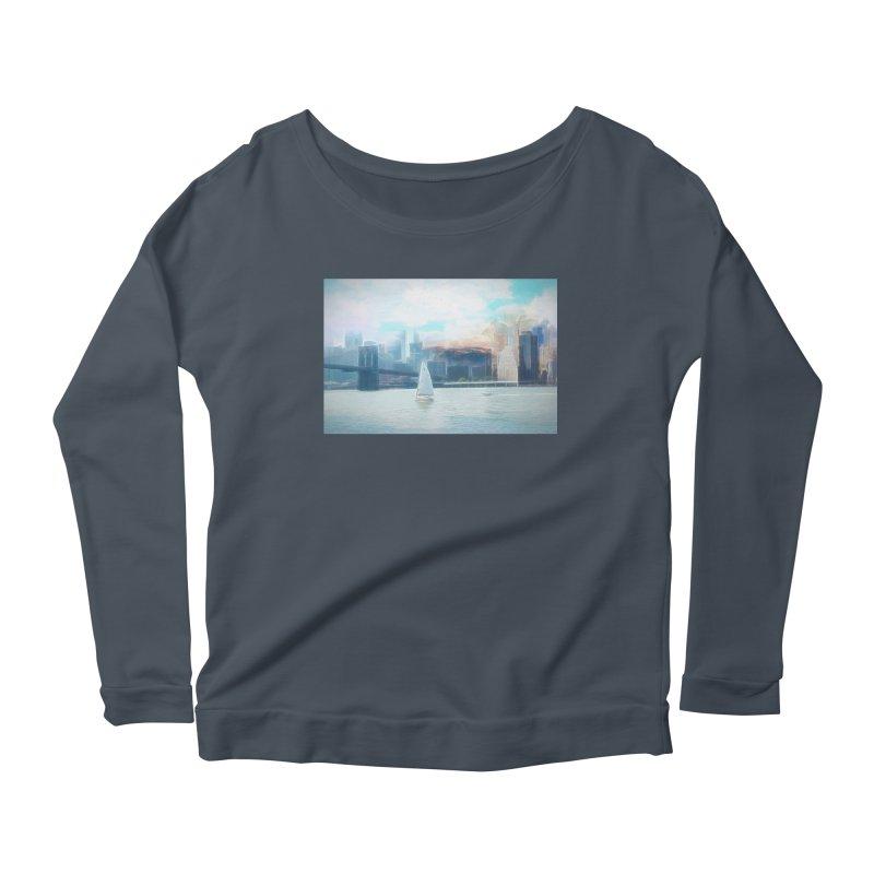 Skyline Women's Scoop Neck Longsleeve T-Shirt by Jasmina Seidl's Artist Shop