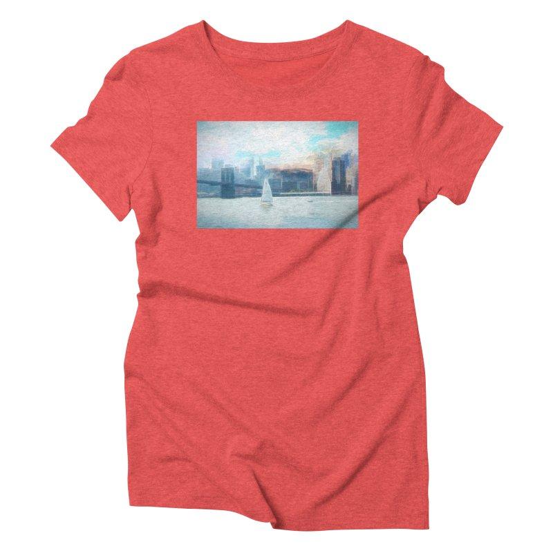 Skyline Women's Triblend T-Shirt by Jasmina Seidl's Artist Shop