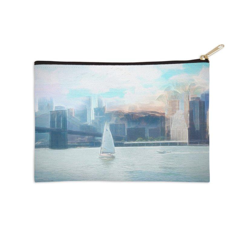 Skyline Accessories Zip Pouch by Jasmina Seidl's Artist Shop