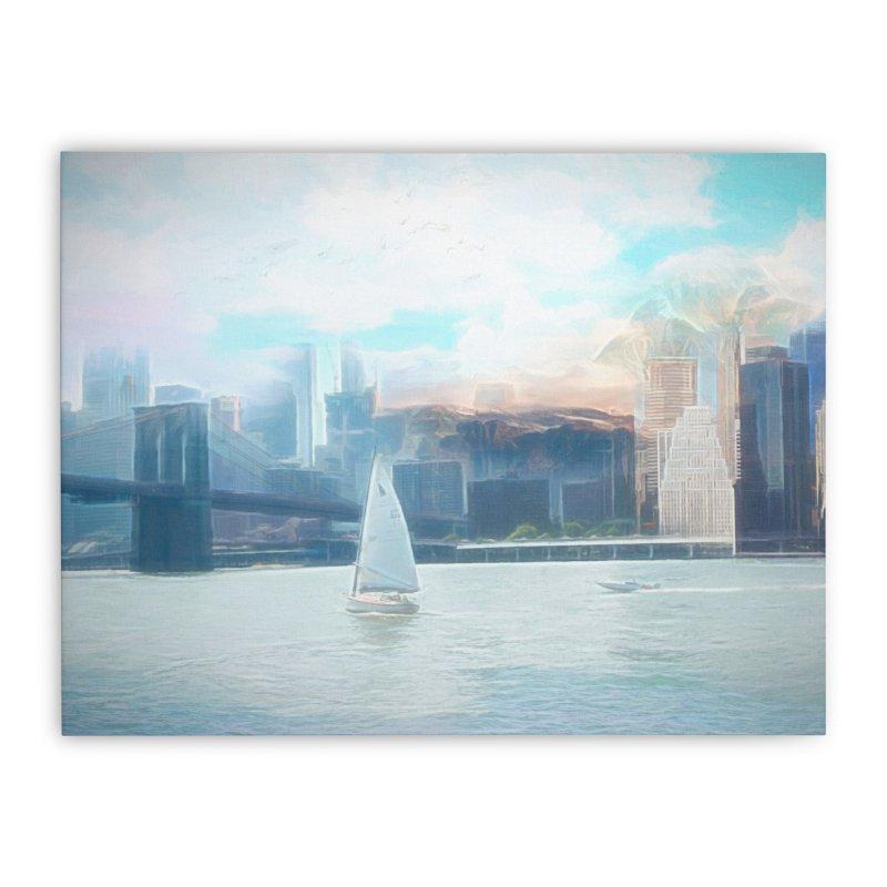 Skyline Home Stretched Canvas by Jasmina Seidl's Artist Shop
