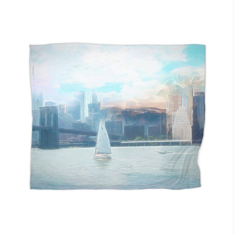 Skyline Home Fleece Blanket Blanket by Jasmina Seidl's Artist Shop