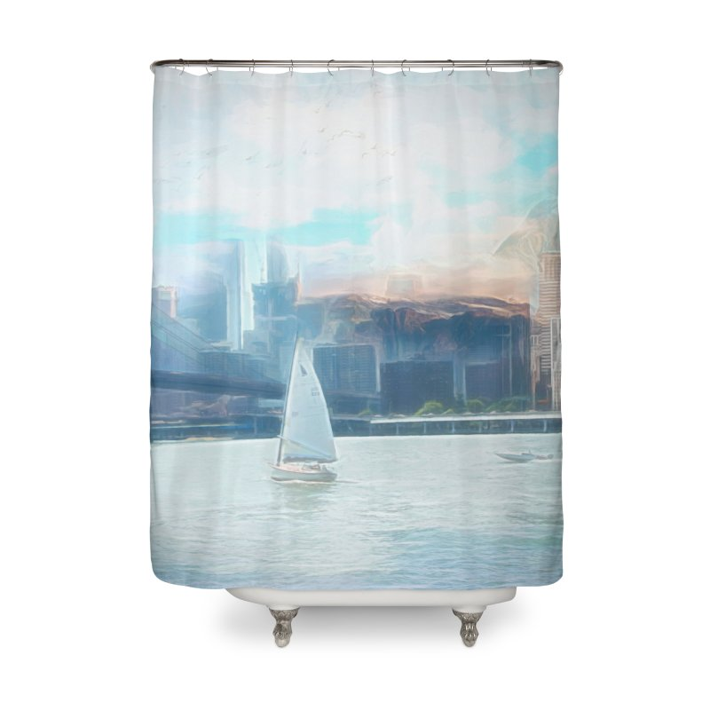 Skyline Home Shower Curtain by Jasmina Seidl's Artist Shop