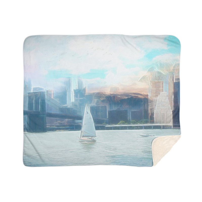 Skyline Home Sherpa Blanket Blanket by Jasmina Seidl's Artist Shop