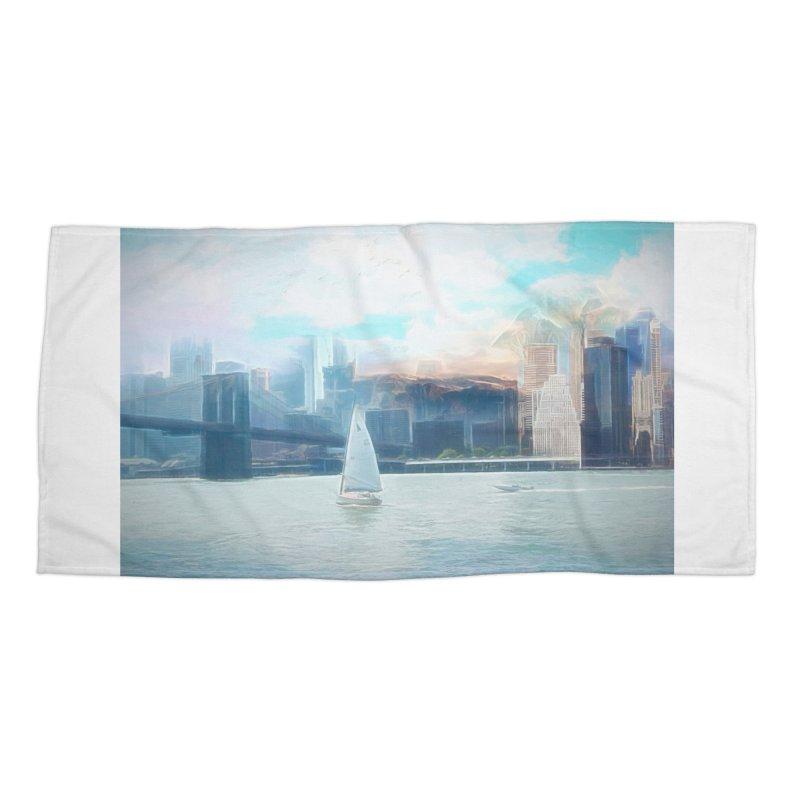Skyline Accessories Beach Towel by Jasmina Seidl's Artist Shop