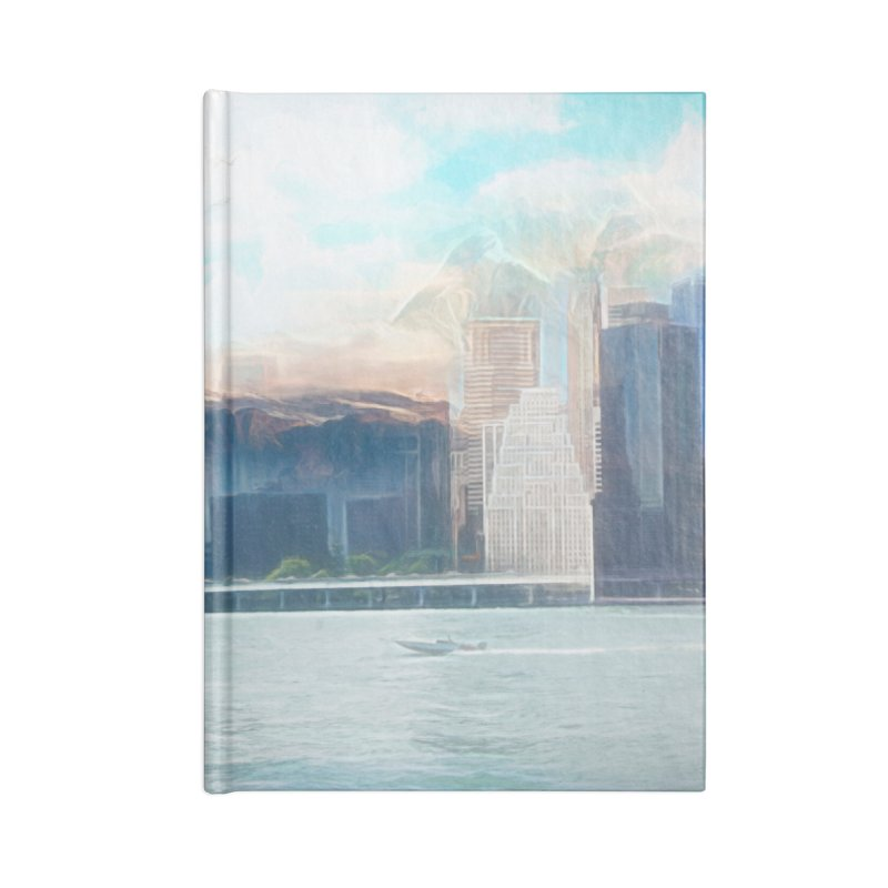 Skyline Accessories Lined Journal Notebook by Jasmina Seidl's Artist Shop