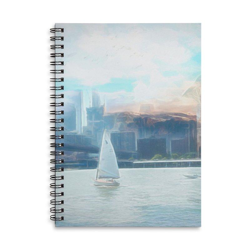 Skyline Accessories Lined Spiral Notebook by Jasmina Seidl's Artist Shop