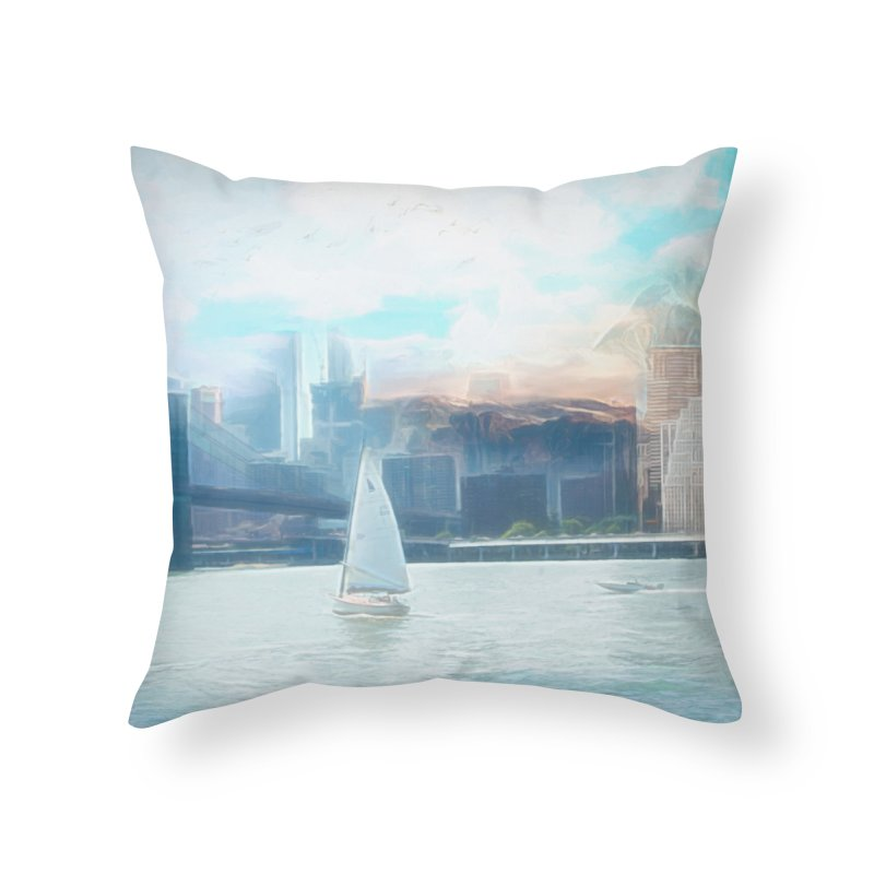 Skyline Home Throw Pillow by Jasmina Seidl's Artist Shop