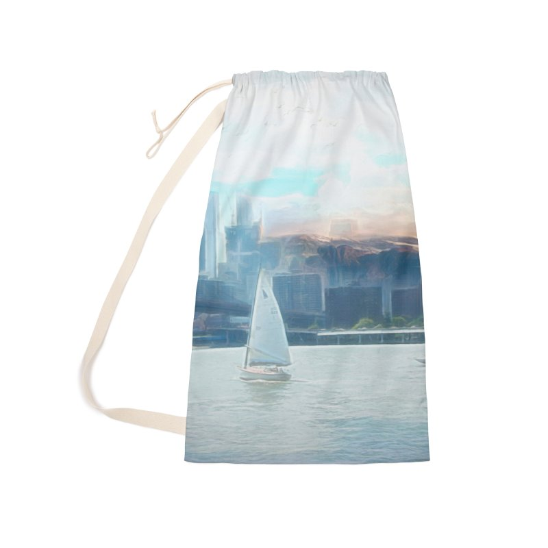 Skyline Accessories Laundry Bag Bag by Jasmina Seidl's Artist Shop