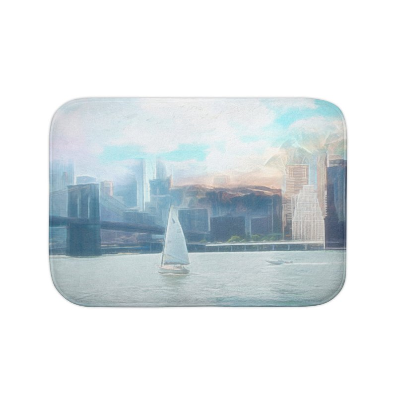 Skyline Home Bath Mat by Jasmina Seidl's Artist Shop
