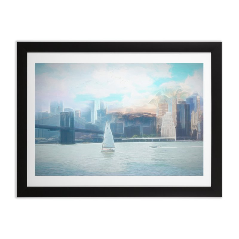 Skyline Home Framed Fine Art Print by Jasmina Seidl's Artist Shop