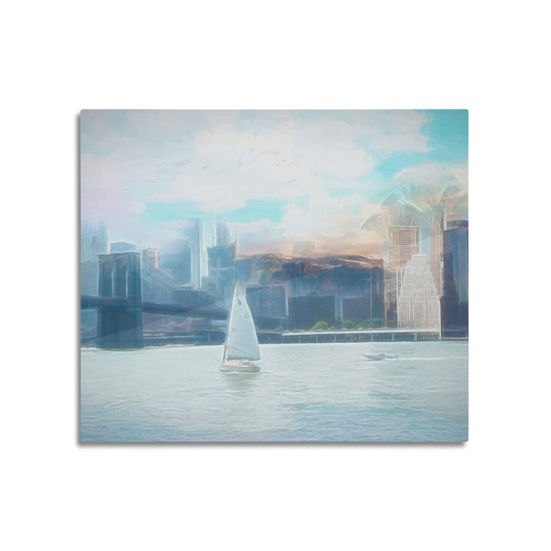 Skyline Home Mounted Aluminum Print by Jasmina Seidl's Artist Shop