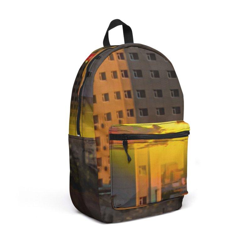 Golden Horizon Accessories Backpack Bag by Jasmina Seidl's Artist Shop