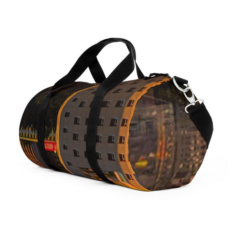 Golden Horizon Accessories Duffel Bag Bag by Jasmina Seidl's Artist Shop