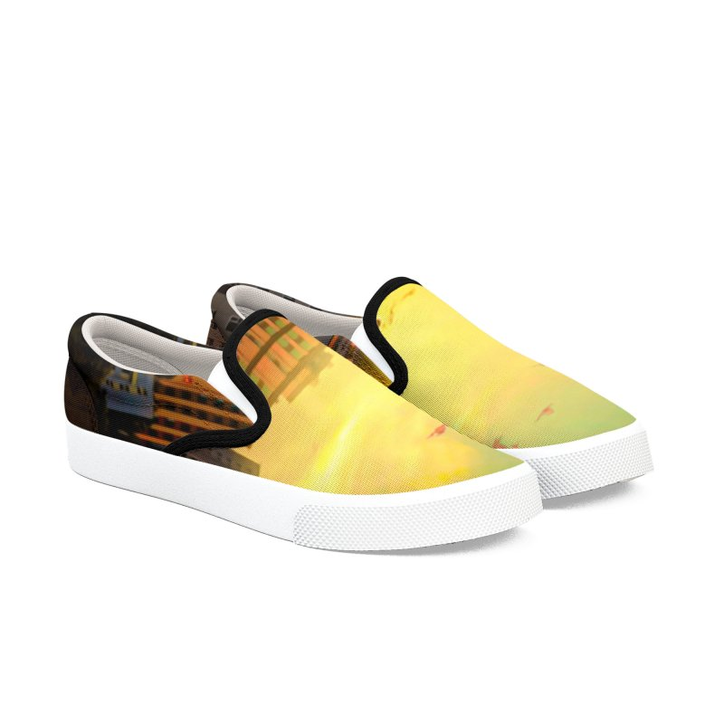 Golden Horizon Men's Slip-On Shoes by Jasmina Seidl's Artist Shop