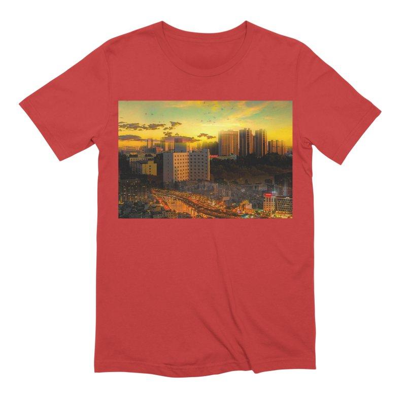 Golden Horizon Men's Extra Soft T-Shirt by Jasmina Seidl's Artist Shop