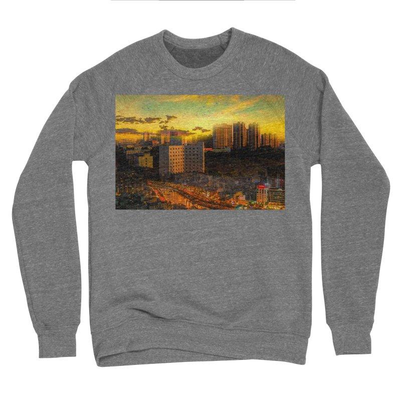 Golden Horizon Men's Sponge Fleece Sweatshirt by Jasmina Seidl's Artist Shop