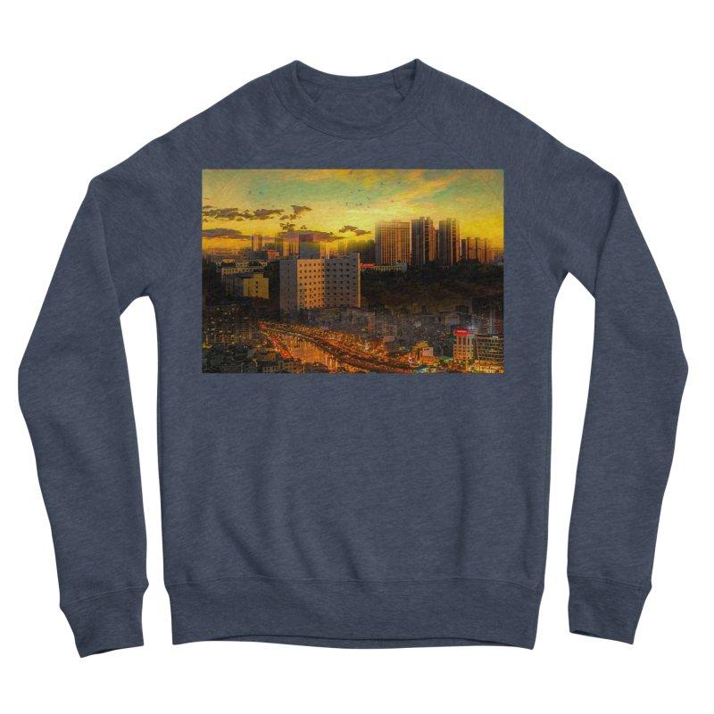 Golden Horizon Women's Sponge Fleece Sweatshirt by Jasmina Seidl's Artist Shop