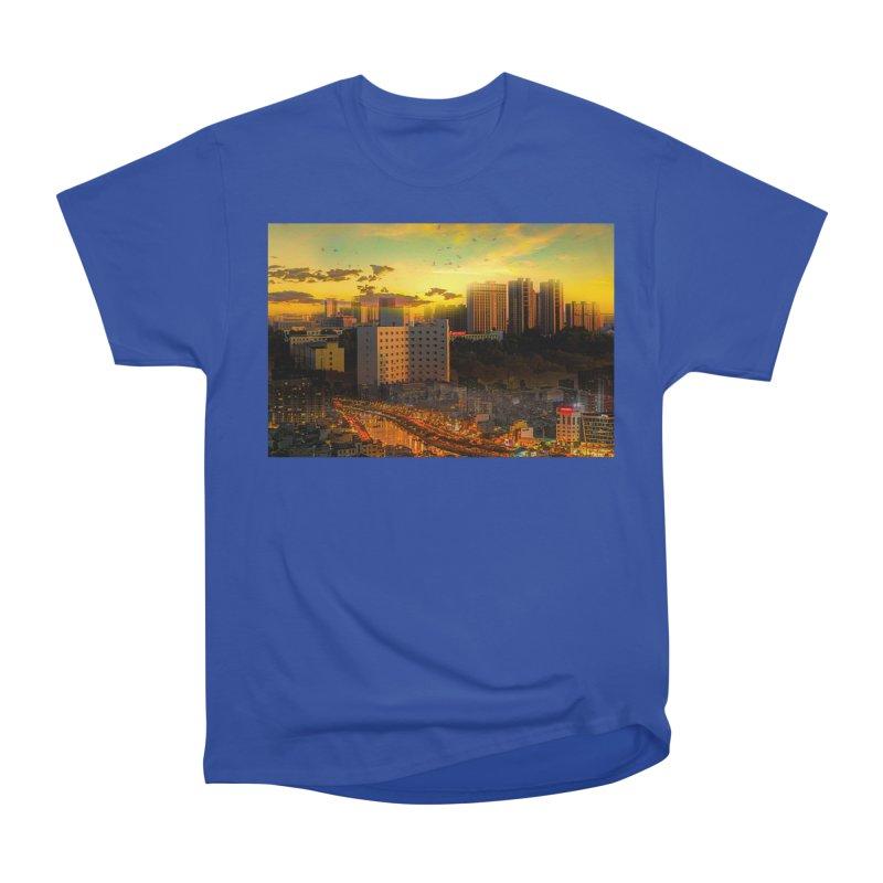 Golden Horizon Men's Heavyweight T-Shirt by Jasmina Seidl's Artist Shop