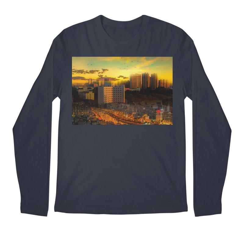 Golden Horizon Men's Regular Longsleeve T-Shirt by Jasmina Seidl's Artist Shop