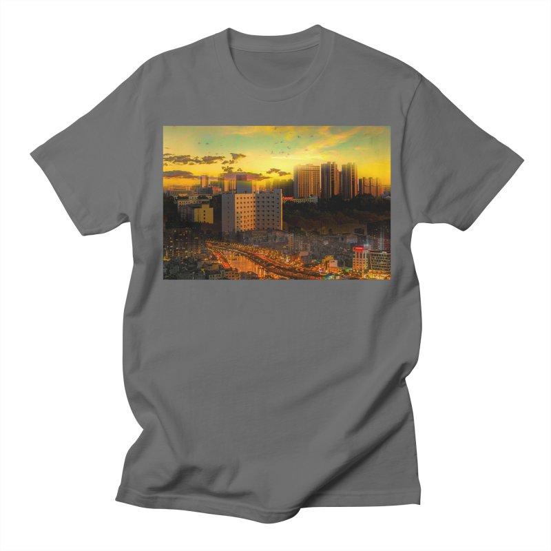 Golden Horizon Men's T-Shirt by Jasmina Seidl's Artist Shop