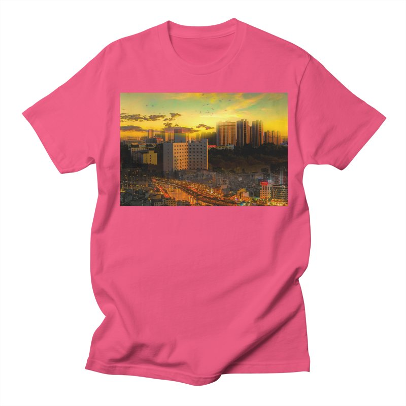 Golden Horizon Men's Regular T-Shirt by Jasmina Seidl's Artist Shop