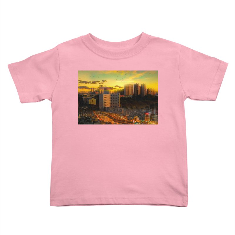 Golden Horizon Kids Toddler T-Shirt by Jasmina Seidl's Artist Shop