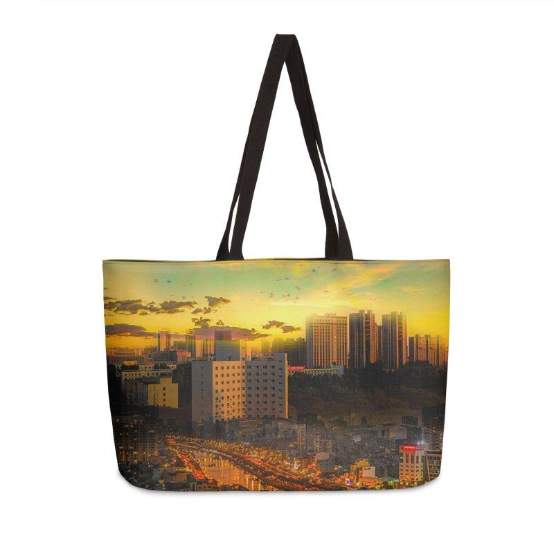 Golden Horizon Accessories Weekender Bag Bag by Jasmina Seidl's Artist Shop