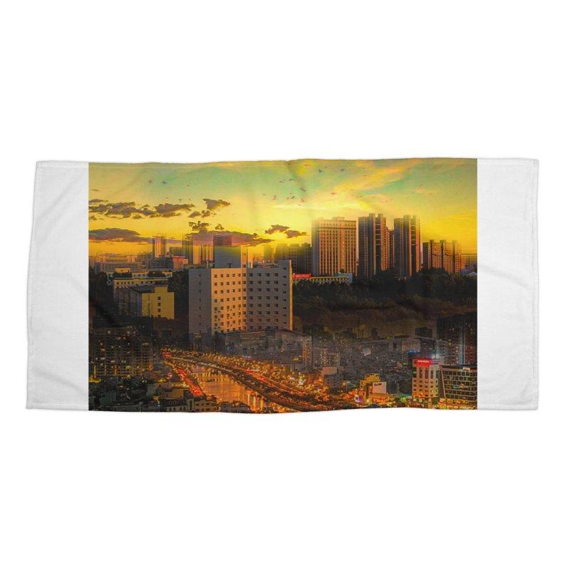 Golden Horizon Accessories Beach Towel by Jasmina Seidl's Artist Shop