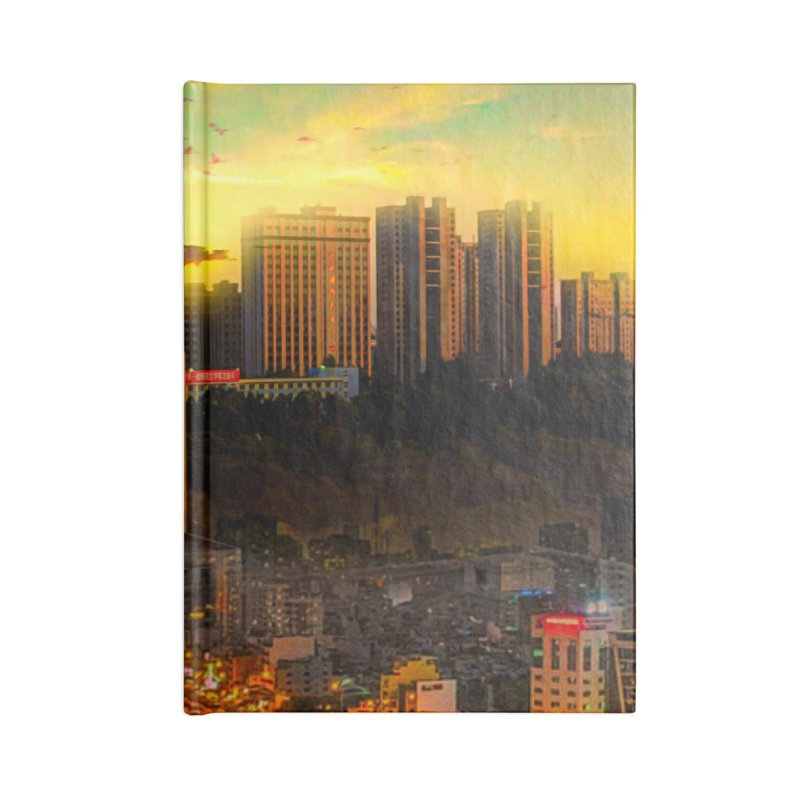 Golden Horizon Accessories Lined Journal Notebook by Jasmina Seidl's Artist Shop