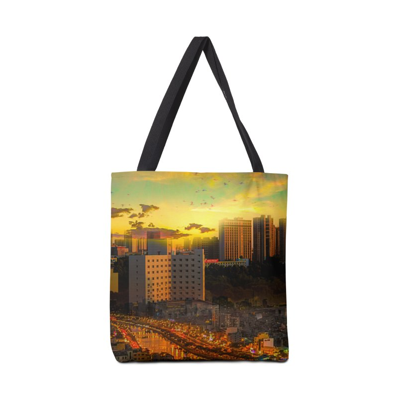 Golden Horizon Accessories Tote Bag Bag by Jasmina Seidl's Artist Shop