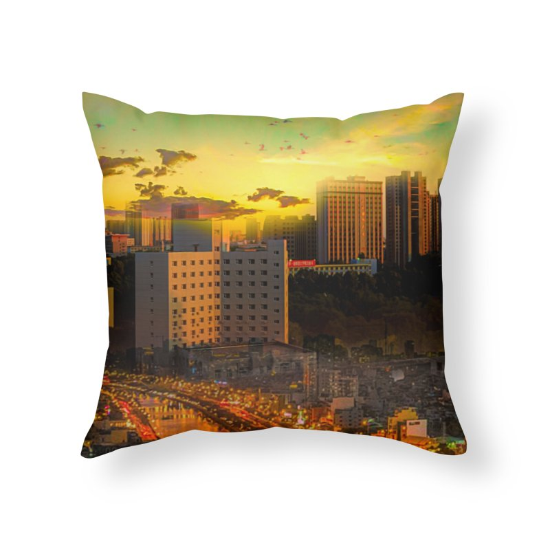 Golden Horizon Home Throw Pillow by Jasmina Seidl's Artist Shop