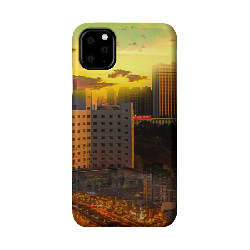 Golden Horizon Accessories Phone Case by Jasmina Seidl's Artist Shop