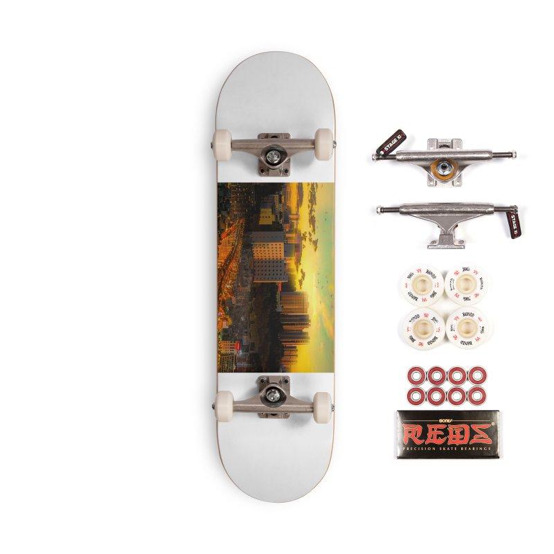 Golden Horizon Accessories Complete - Pro Skateboard by Jasmina Seidl's Artist Shop
