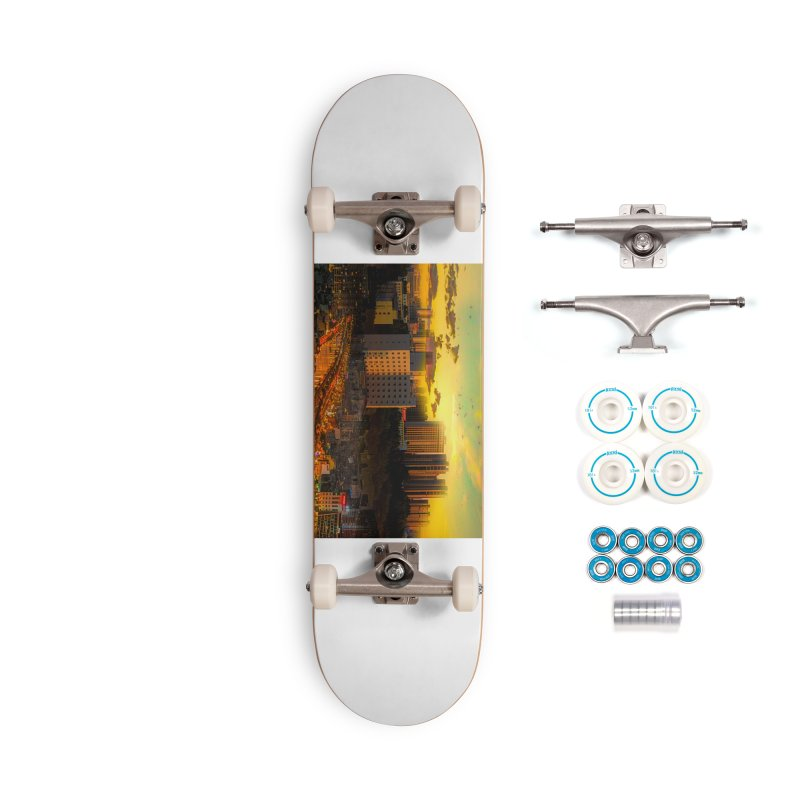 Golden Horizon Accessories Complete - Basic Skateboard by Jasmina Seidl's Artist Shop