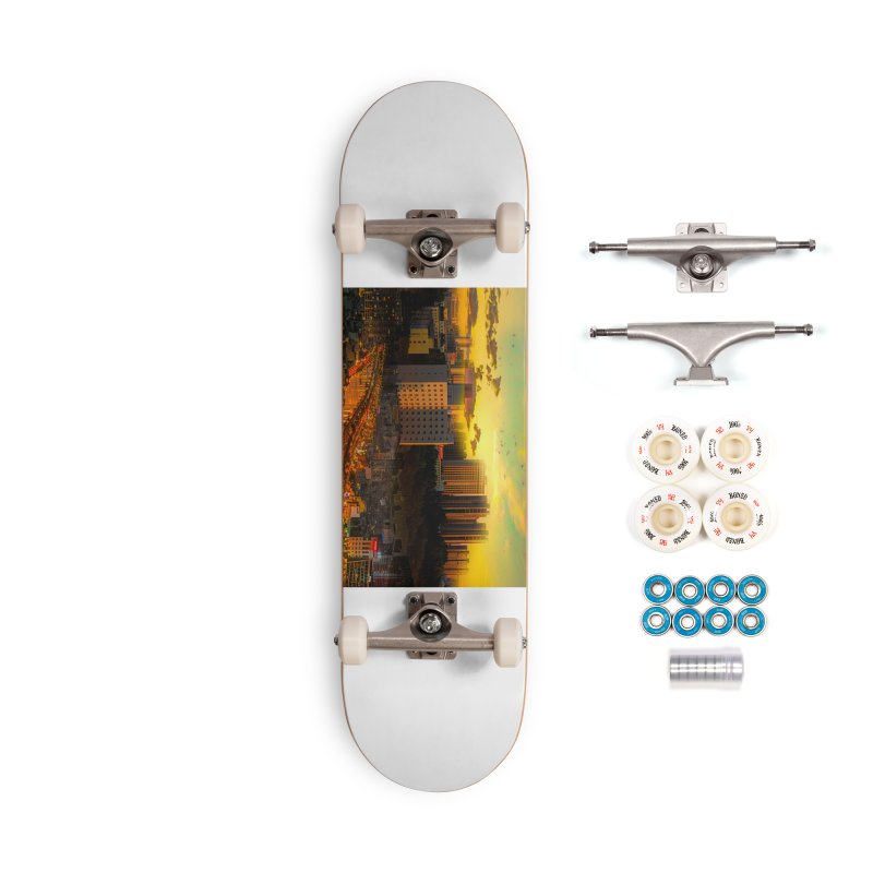 Golden Horizon Accessories Complete - Premium Skateboard by Jasmina Seidl's Artist Shop
