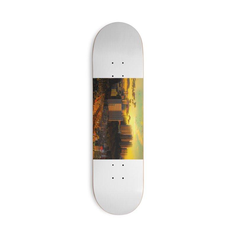 Golden Horizon Accessories Deck Only Skateboard by Jasmina Seidl's Artist Shop