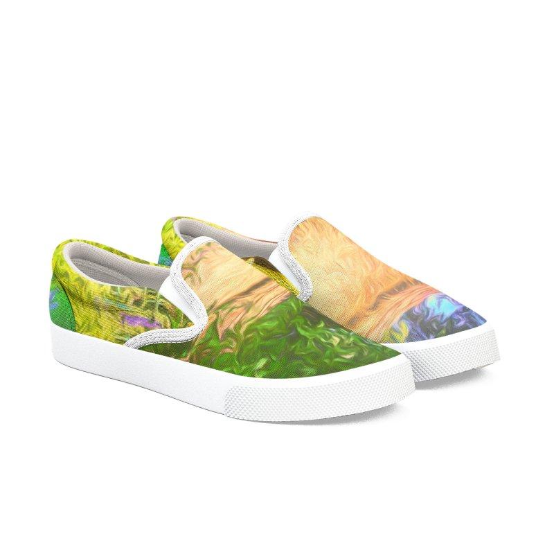 The Cottage Men's Slip-On Shoes by Jasmina Seidl's Artist Shop
