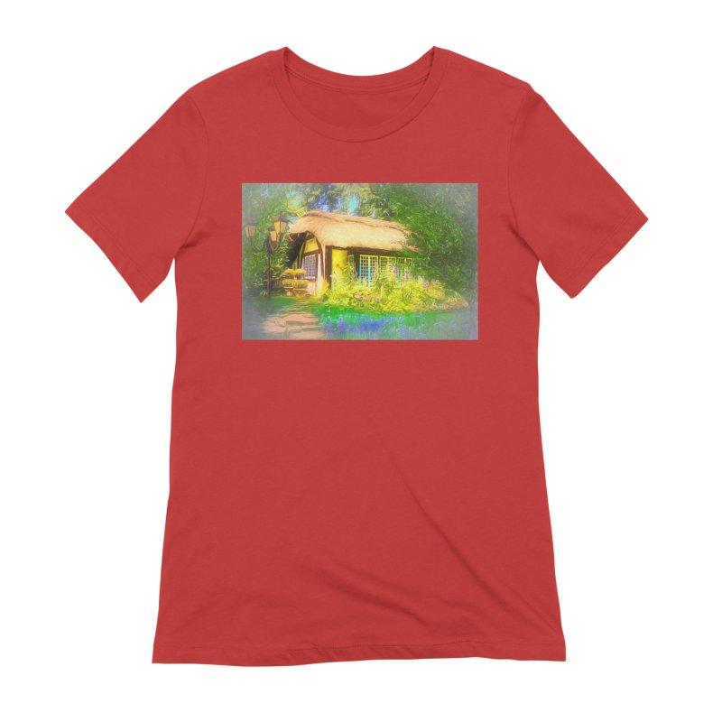 The Cottage Women's Extra Soft T-Shirt by Jasmina Seidl's Artist Shop