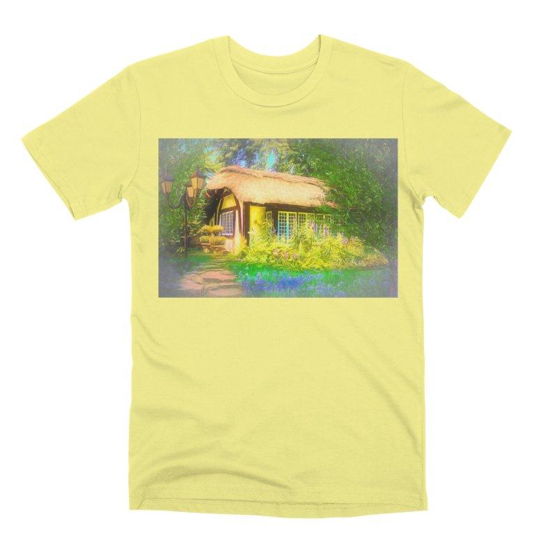The Cottage Men's Premium T-Shirt by Jasmina Seidl's Artist Shop