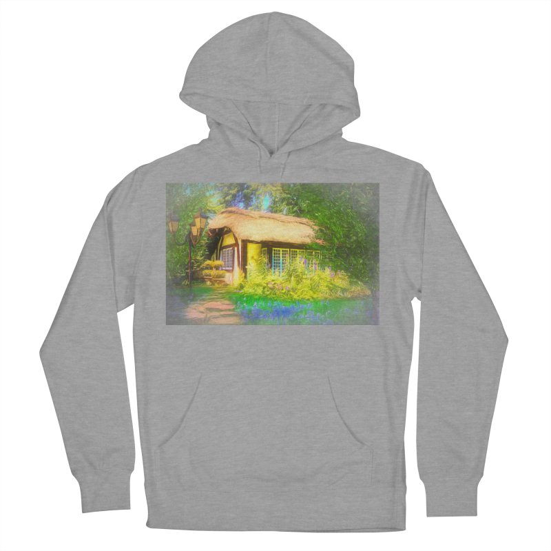 The Cottage Men's French Terry Pullover Hoody by Jasmina Seidl's Artist Shop