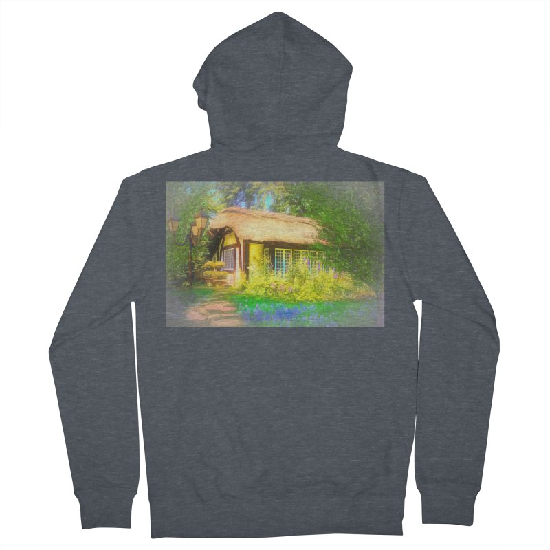 The Cottage Men's French Terry Zip-Up Hoody by Jasmina Seidl's Artist Shop