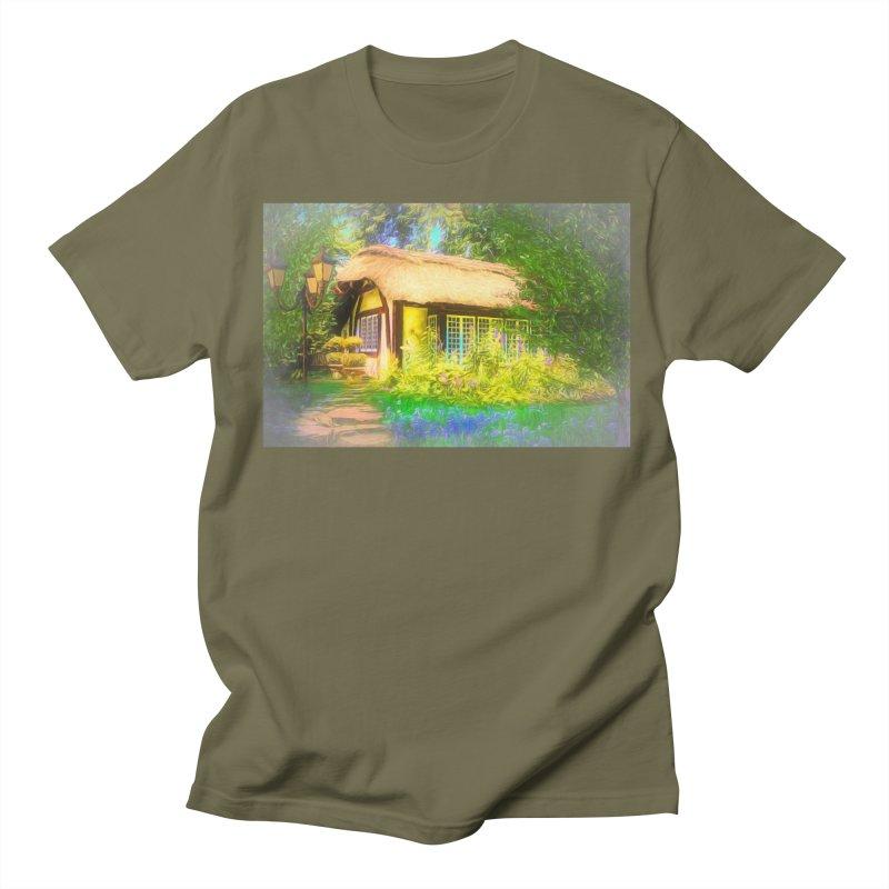 The Cottage Men's Regular T-Shirt by Jasmina Seidl's Artist Shop