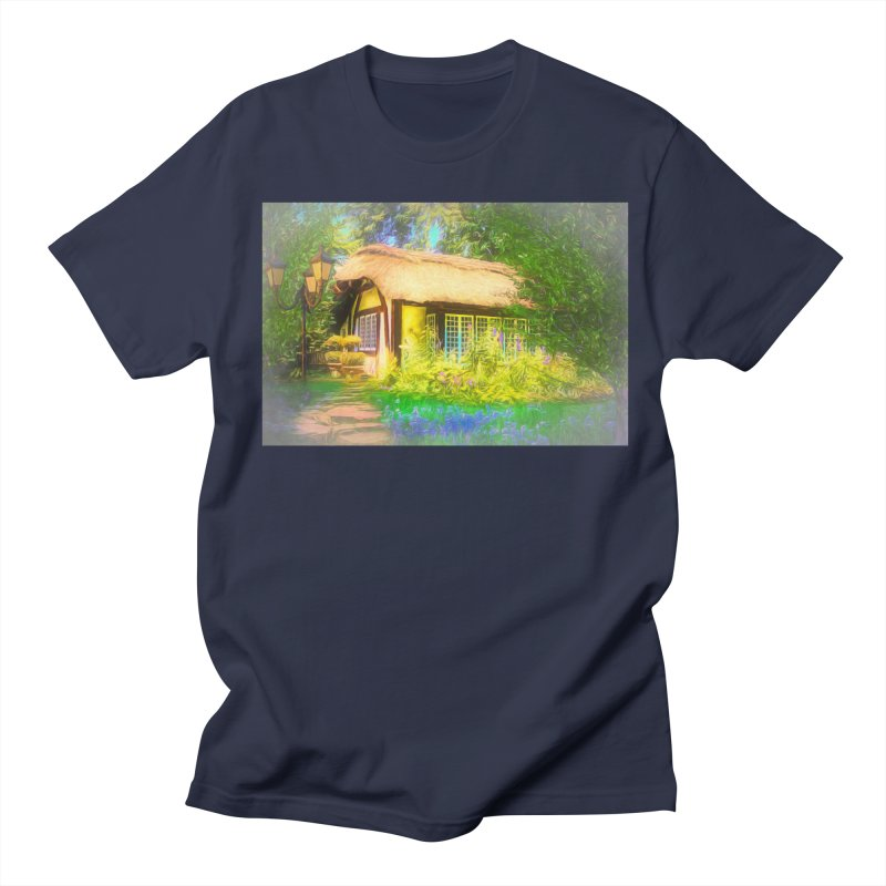 The Cottage Men's Regular T-Shirt by Jasmina Seidl's Artist Shop