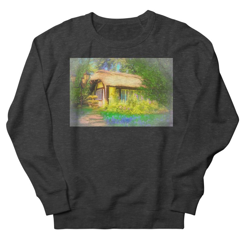 The Cottage Women's French Terry Sweatshirt by Jasmina Seidl's Artist Shop